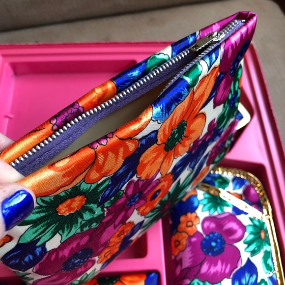 Handmade Coin Purse make-up case wallet change pencil case mod print